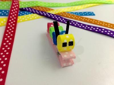 Ribbon clip tutorial cute caterpillar