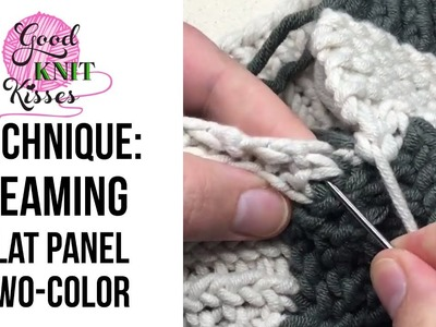 Seaming a Flat Panel Hat in 2 colors
