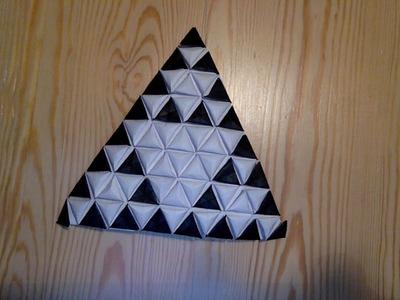 Sierpinski Triangle as Origami Tessellation