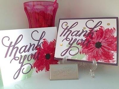 Simply Simple NOW or WOW - Work of Art Thank You Card by Connie Stewart