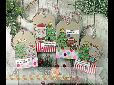SSS Christmas Squad Tag Set | Prismacolor Pencils | AmyR 2017 Christmas Card Series #4