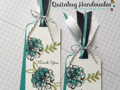 Stampin' Up! March Customer Gift- What I Love Thank You Bookmark