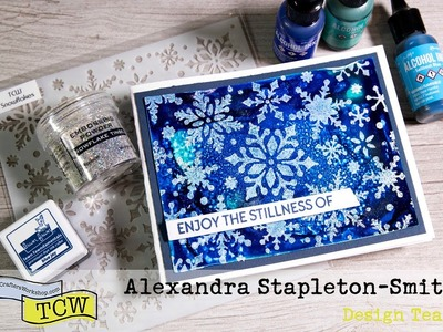 Stretch your Stencils: Alcohol Ink Backgrounds & How to Heat Emboss Yupo Paper