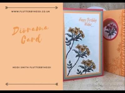 Sunday Scoring Diorama Card by Heidi Smith Flutterbyheidi Stampin up uk demonstrator