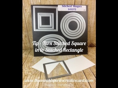 Tip - Turn your Stitched Square in to a Stitched Rectangle