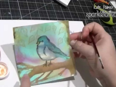Using Magicals 3 Ways to Color Dina Wakley Scribbly Bird Card