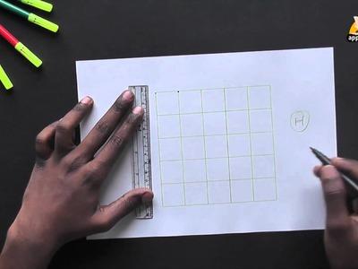 Write Block Style Alphabet 'H' - Arts & Crafts