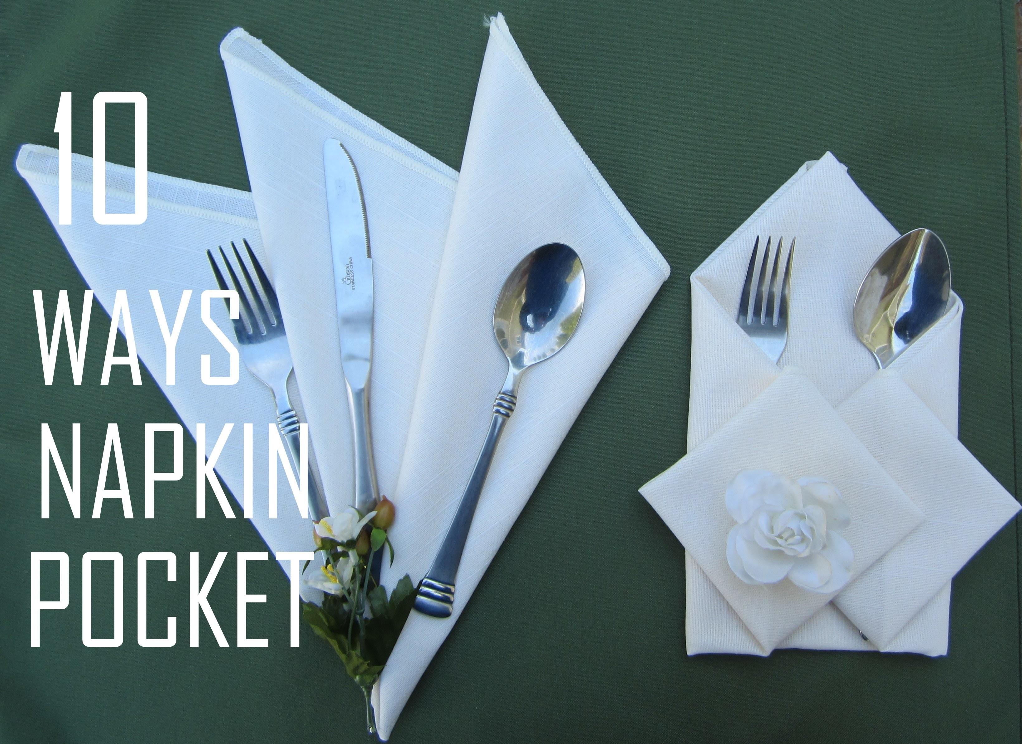 10 Ways how to fold a Npakin Pocket