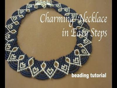 33: ROYAL CHARM beaded necklace! Enjoy beading the beauty!