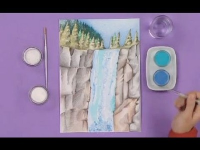 Art Attack   How To Make Waterfall With Salt   Disney India Official