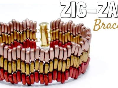 Beading Ideas - How to make a Zig-Zag bracelet with Brick Stitch
