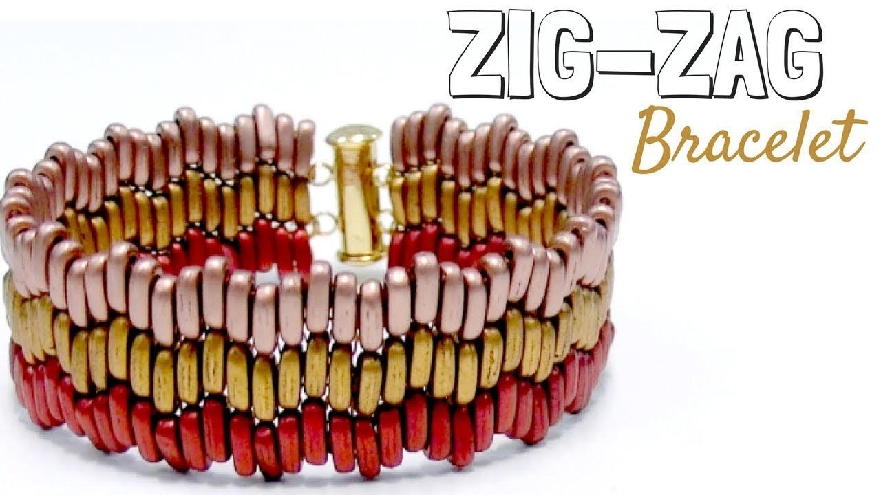 Beading Ideas - How to make a Zig-Zag bracelet with Brick Stitch