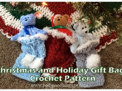 Christmas and Holiday Gift Bags  Crochet Pattern