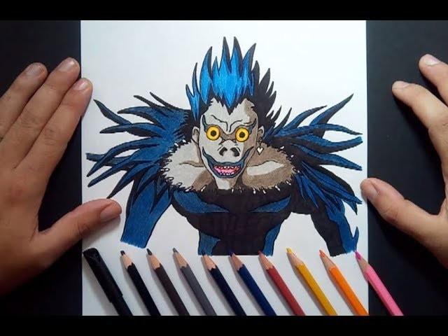 Como dibujar a Ryuk paso a paso - Death Note | How to draw Ryuk - Death Note