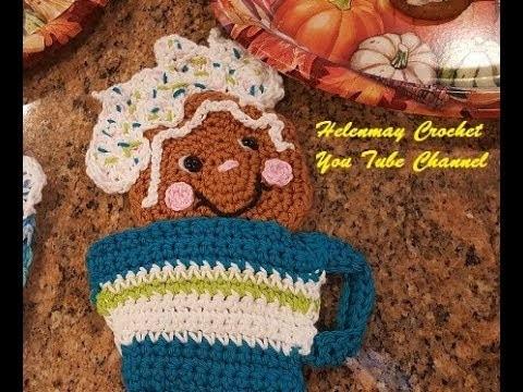 Crochet Gingerbread How Sweet It Is Hot Pad Potholder Part 2 of 2 DIY Video Tutorial