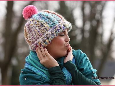 Crochet Tutorial: Razzle Dazzle Chunky Hat