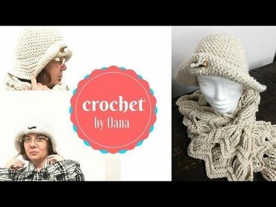 Crochet wide brim hat by Oana