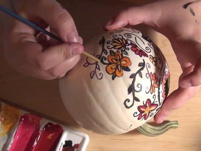 Day of the Dead pumpkin speed paint   dia de los muertos sugar skull