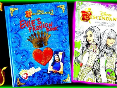 DISNEY DESCENDANTS 2 EVIE'S 4 HEARTS FASHION Book and WICKEDLY COOL Coloring