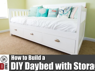 DIY Daybed with Storage Drawers | How to Woodworking Projects