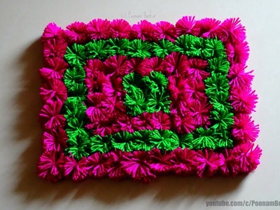 DIY - Easy Pom Pom Table Mat | Step by step tutorial