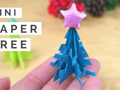 DIY Mini Christmas Tree & Origami Star - Christmas Paper Crafts Tree & Star Tutorial