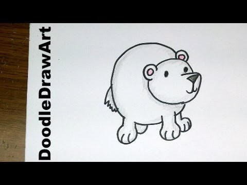 Drawing How To Draw Cartoon Polar Bear Baby So Cute And Easy Step