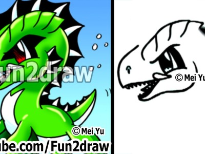 Easy Cartoon Drawings - How to Draw a Cool Sea Monster - Drawing Step by Step - Fun2draw