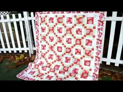 EPISODE 57 -Finished Nine Patch quilt with bonus footage