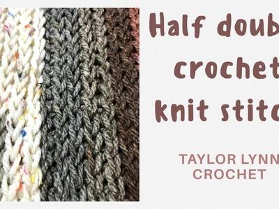 Half Double Crochet Knit Stitch