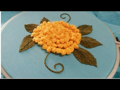 Hand embroidery 3D flower with easy basic stitches