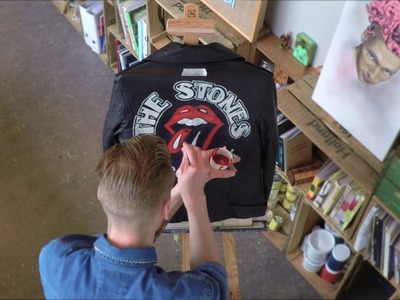 Hand painting Leather Jackets - Hilfiger Denim X The Rolling Stones, Part 1 London