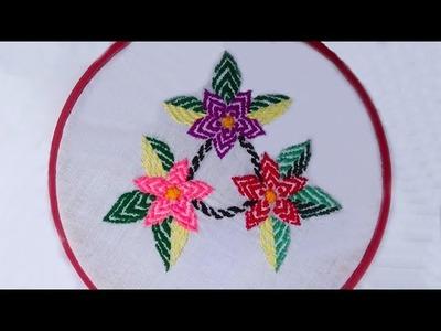Hand Stitch - Design of Nokshi kantha stitch - Flower design