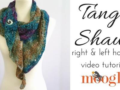 How to Crochet: Tango Shawl (Left Handed)
