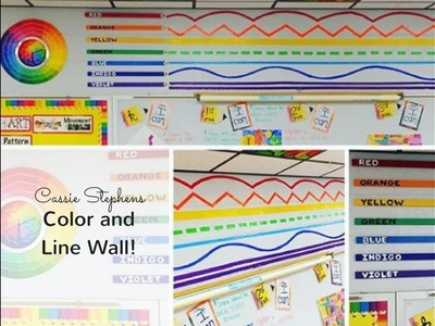 How to Decorate an Art Room: Color and Line Wall!