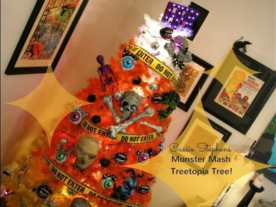How to Decorate for Halloween: Candy Corn Tree!