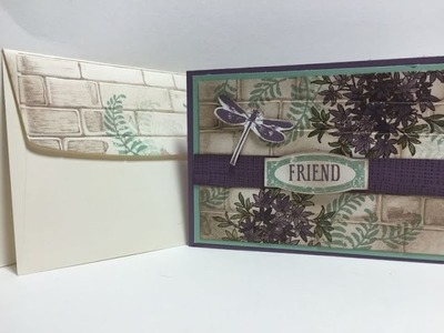How to decorate your envelope using an embossing folder