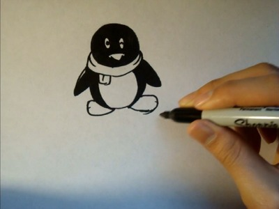 How To Draw A Cartoon Penguin|Step By Step| Tutorial