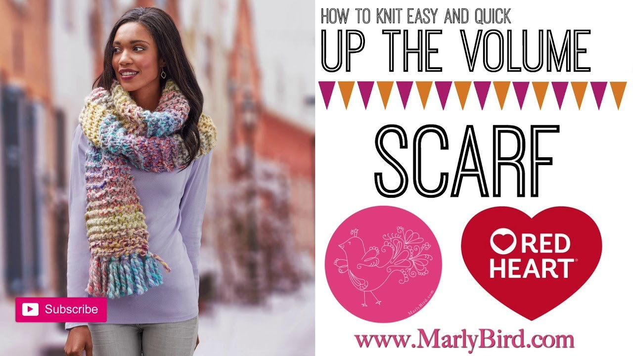 How to Knit Quick and Easy Up the Volume Scarf