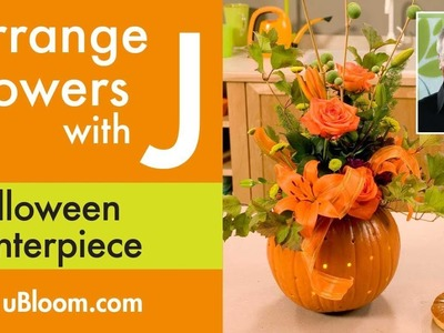 How to make a Flower Filled Pumpkin Arrangement!