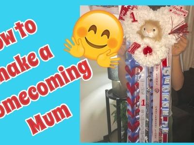 How to make a Homecoming Mum  DIY Mum   CHS Homecoming 2017