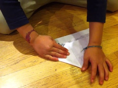 How to make a paper airplane - Diamond Jet.  It flies really fast and far