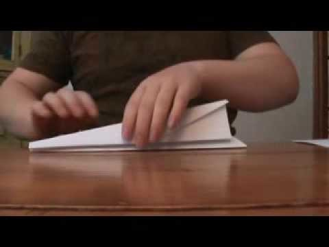 How to make a paper airplane that flies far glider