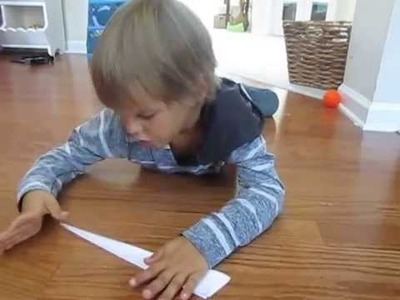 How To Make A Simple Paper Airplane - Jet Stream 2