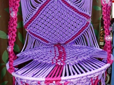 How to make a toy jhula using macrome in telugu
