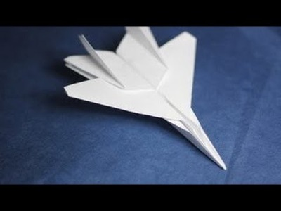 How to make an F15 Eagle Jet Fighter Paper Plane