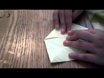 How to make an origami lotus flower with plain lined paper :)