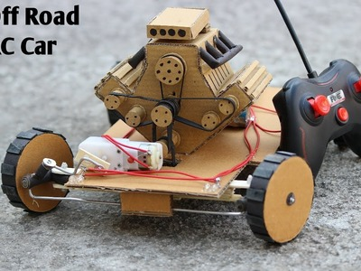 How to make off road Remote Control Car - RC Car - Very Simple