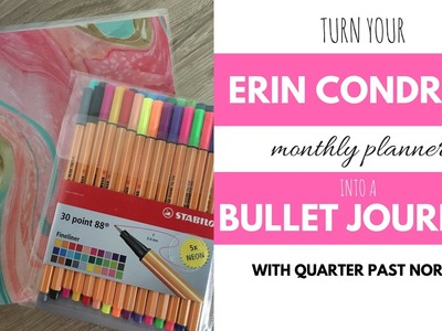 How To Turn Your Erin Condren Planner into a Bullet Journal