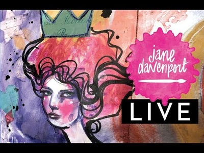 Jane Davenport creating live with new supplies!